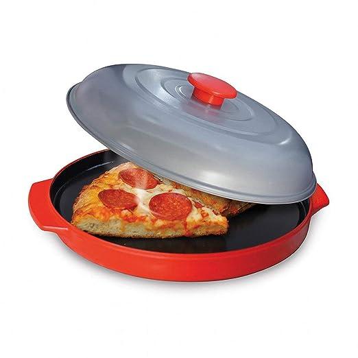 Zinniaya Horno microondas Bandeja antiadherente para hornear Pizza ...