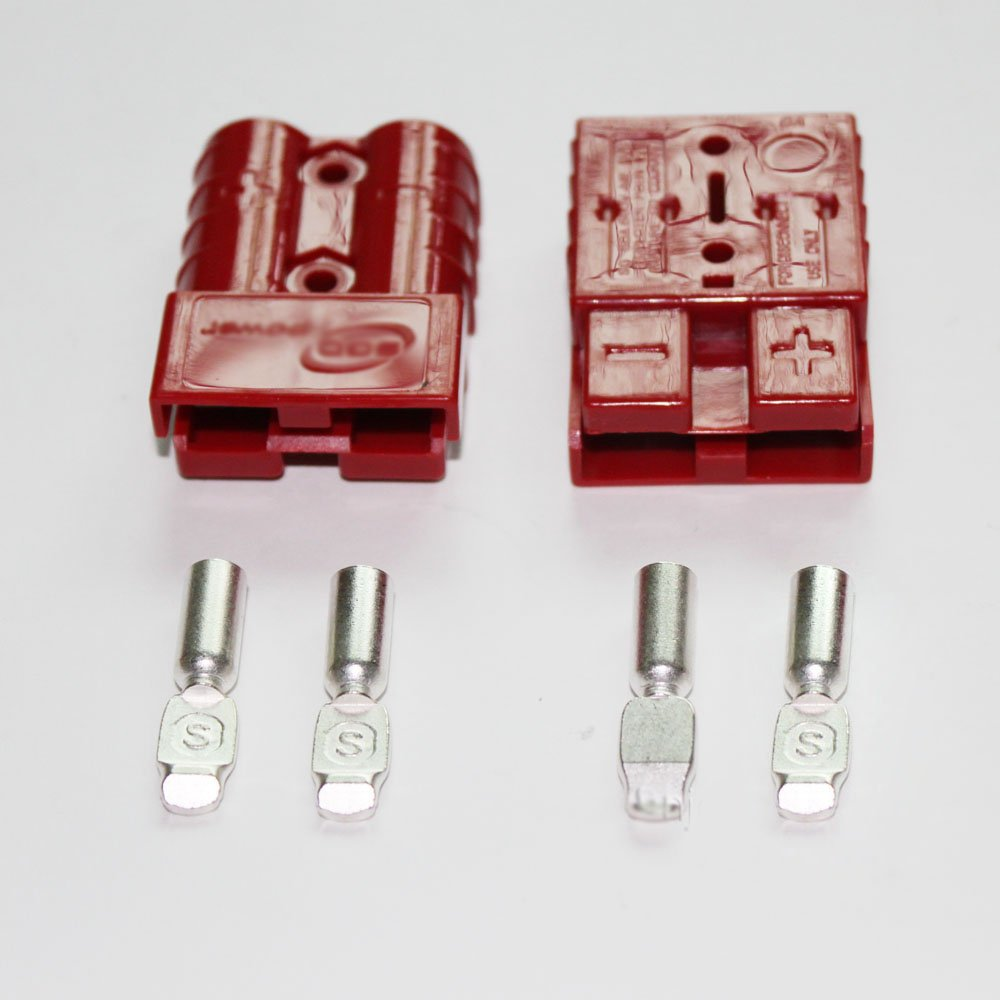 X-Haibei Battery Quick Disconnect 50A 6AWG Connect Plug Winch Trailer Connector Red