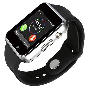 kivors Bluetooth Reloj Inteligente con Ranura para Tarjeta SIM gsm Reloj Deportivo Actividad rastreador con podómetro Inteligente Salud muñeca Reloj ...