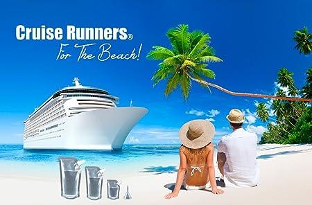 Crucero corredores marca Kit de barco matraz 8 unidades Sneak Alcohol licor de Ron corredor entrar licor regalo (6 x 32 ml + 2 x 236 ml.): Amazon.es: Hogar