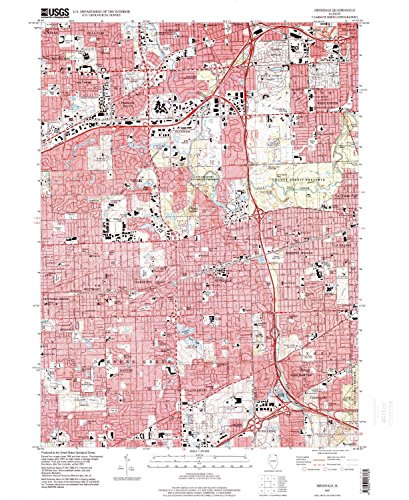 Hinsdale IL topo map, 1:24000 scale, 7.5 X 7.5 Minute, Historical, 1997, updated 1999, 26.8 x 22 IN - - Oak Center Brook