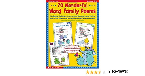 Workbook free phonics worksheets : Amazon.com: 70 Wonderful Word Family Poems: A Delightful ...