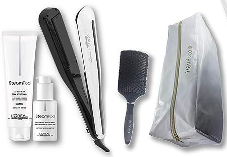 LOréal Professionnel Steampod 3.0 - Plancha para cabello fino, 150 ml, suero de 50 ml, estuche de almacenamiento y cepillo: Amazon.es: Salud y cuidado personal