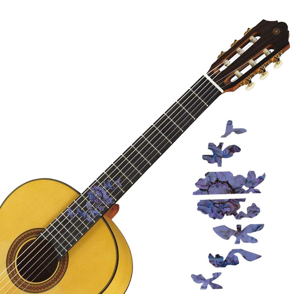 yibuy 175 x 57 mm diapasón marcadores Inlay adhesivo adhesivos para guitarra Bass DIY cuello flores, Multicolor: Amazon.es: Instrumentos musicales