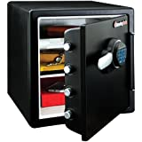 SentrySafe SFW123FUL Fireproof Waterproof Safe with Digital Keypad, 1.23 Cubic Feet, black