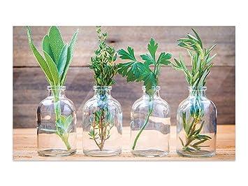 GRAZDesign Bilder auf Glas Kräuter im Glas - Wandbilder Glas ...