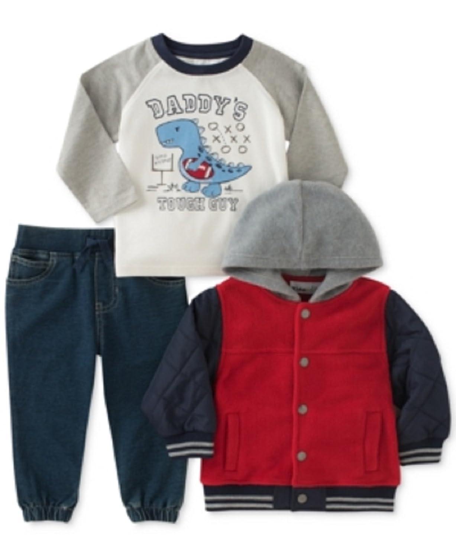 2365c16c4d78c9 Kids Headquarters 3-Pc. Hooded Jacket, Tough Guy T-Shirt & Jeans Set ...