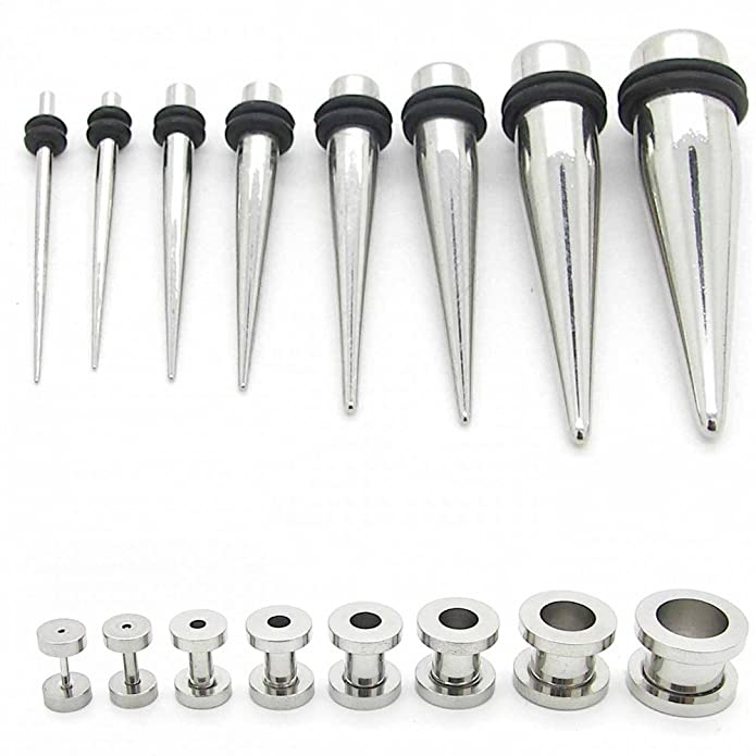1 kit Expansor Túnel Tunnel Plug Piercing para Oreja e 1 kit ...
