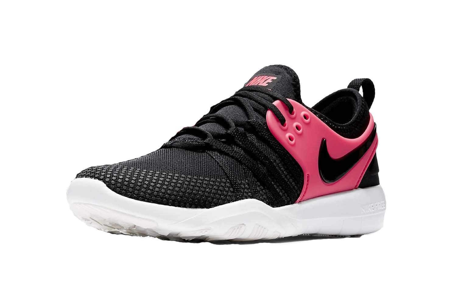 491e97b1610df Galleon - NIKE Free Tr 7 Size 7.5 Womens Cross Training Black Black-Solar  Red-Summit White Shoes