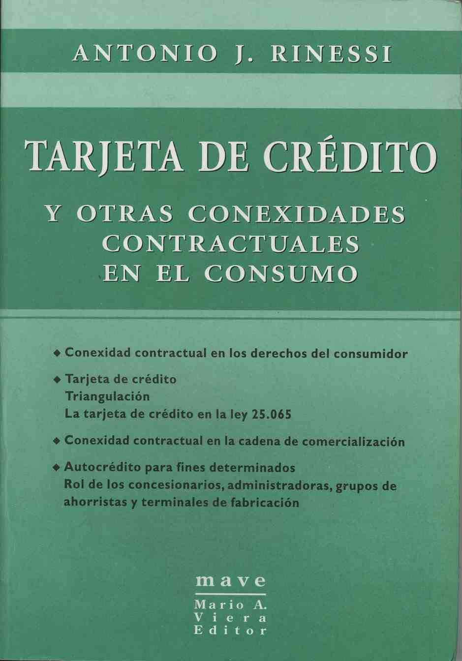 TARJETA DE CREDITO Y OTRAS CONEXIDADES CONTRACTUALES EN EL ...