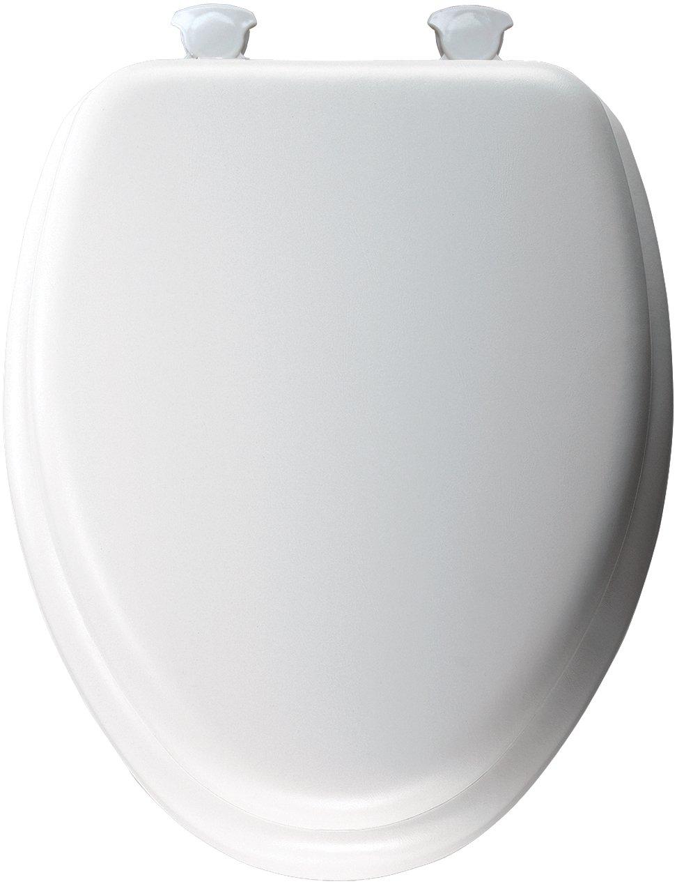 BEMIS Soft Elongated Closed Front Toilet Seat White 113EC 000 Easy Change Hin