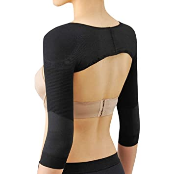 22ae2b3e23 Women Elastic Compression Arm Shaper Back Shoulder Corrector Long Sleeve  Slimming Weight Loss Belt Shapers Massage