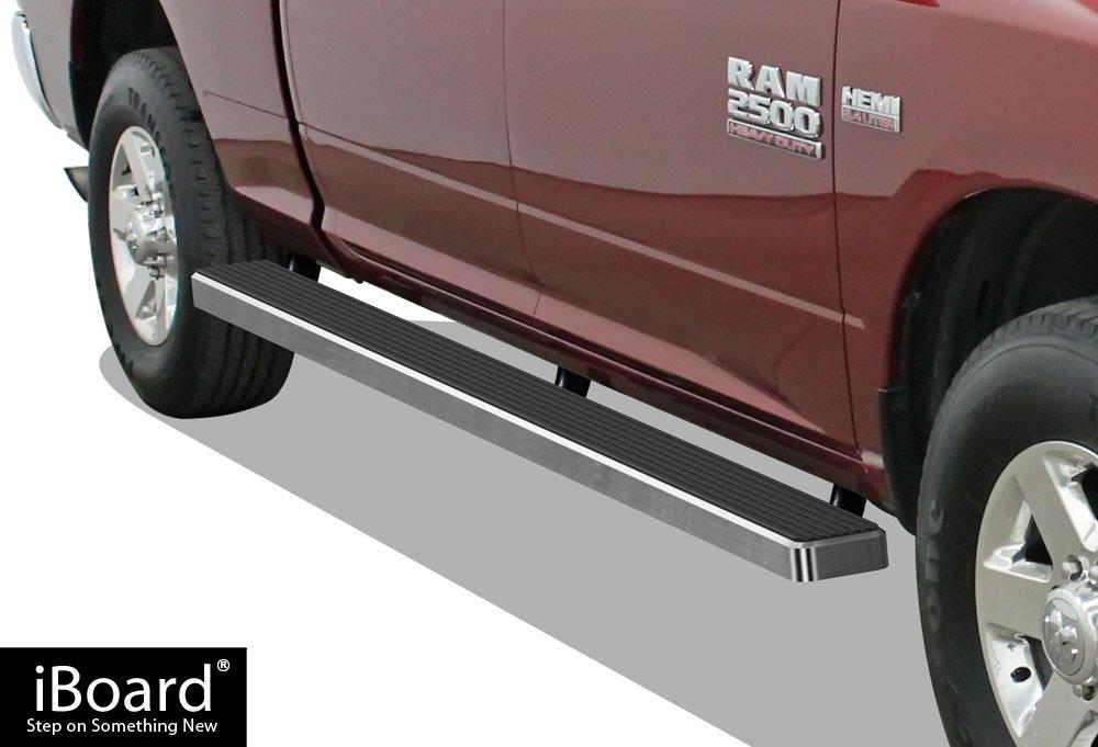 APS Wheel to Wheel Running Boards 5'' Custom Fit 2009-2018 Ram 1500 Crew Cab Pickup 5.5ft Short Bed (Incl. 2019 Ram 1500 Classic)& 2010-2019 Ram 2500/3500 (Nerf Bars | Side Steps | Side Bars)