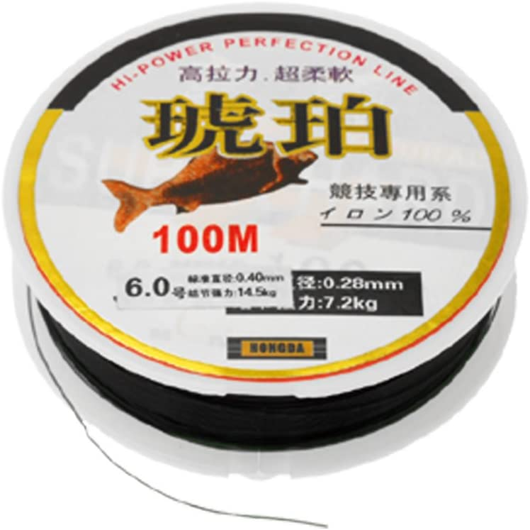 uxcell Black 100M Fishing Line String Spool Size 0.40mm 14.5Kg