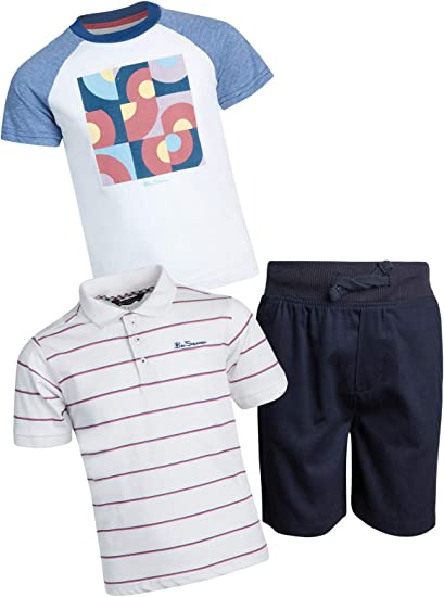 Toddler /& Little Boys Quad Seven Boys 3-Piece Pant Set with Woven Shirt and Tee
