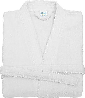 1157cfb12d Comfys Co Towelling Kimono Style Robe Large Deep Pocket Super Soft Bathing  Gown  Amazon.co.uk  Clothing