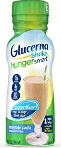 Glucerna Hunger Smart, Diabetes Nutritional Shake, To Help Manage Blood Sugar, Homemade Vanilla, 10 Fl Oz, 12Count