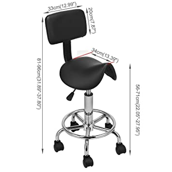 Cool Amazon Com Deed Home Chair Stool Folding Chair Saddle Salon Pabps2019 Chair Design Images Pabps2019Com