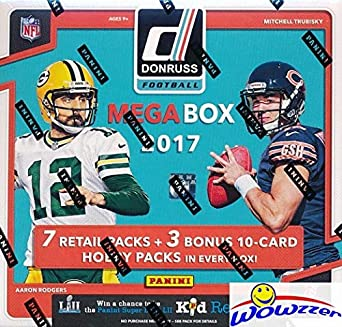 2017 Donruss Football Exclusive Factory Sealed Mega Box With 7 Packs Bonus 3 Hobby Packs