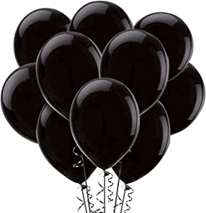 Black Balloons,100-Pack, 12-Inch, Latex Balloons (100)