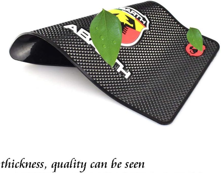 wie Handys Schl/üSsel Halterung ZGYAQOO Auto Logo Anti Rutsch Matte f/ür FIAT Punto Abarth 500 124 Stilo Ducato Palio Klebrig Pad Abwaschbar Armaturenbrett Antirutschmatte