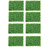 DearHouse 8 Pack Artificial Boxwood Panels Topiary Hedge Plants Artificial Greenery Fence Panels for Greenery Walls,Garden,Privacy Screen,Backyard and Home Decor