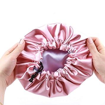 Pink silk bonnet