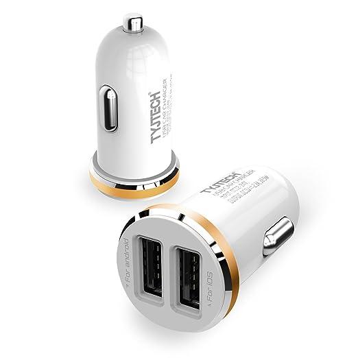 2 opinioni per Caricabatterie da Auto, TYJTECH 2 Port Caricatore USB Universale per Auto USB