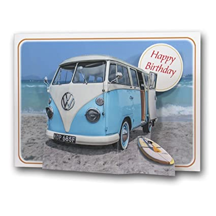 JOYEUX ANNIVERSAIRE - Camping-car - Carte de vœux 3D Pop Up de The Pictoria