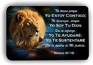 EasyPray Memory Foam Soft Prayer SPANISH MAT Isaiah 40:11 - Fear Not for I AM with You - Lion of Judah Bible Verse Christian Prayer Rug