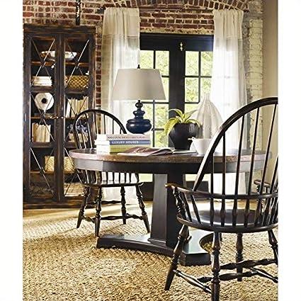 Hooker Furniture Sanctuary 5 Piece Round Pedestal Dining Table Set