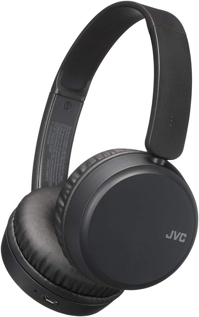 JVC HA-S35BT - Auriculares (Inalámbrico, Diadema, Binaural, Supraaural, 20-20000 Hz, Negro)