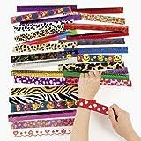 Fun Express Slap Bracelet Assortment - 50 Pieces
