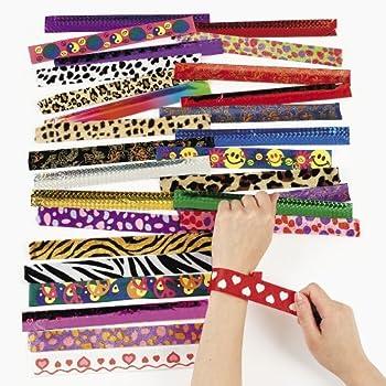 amazoncom animal print slap bracelets assorted 12 pack
