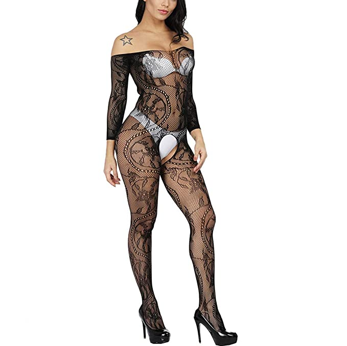 buy popular brand quality 2018 shoes Zerolove Fishnet Bodystocking, Women Sexy Bodysuits Crotchless Tights  Lingerie