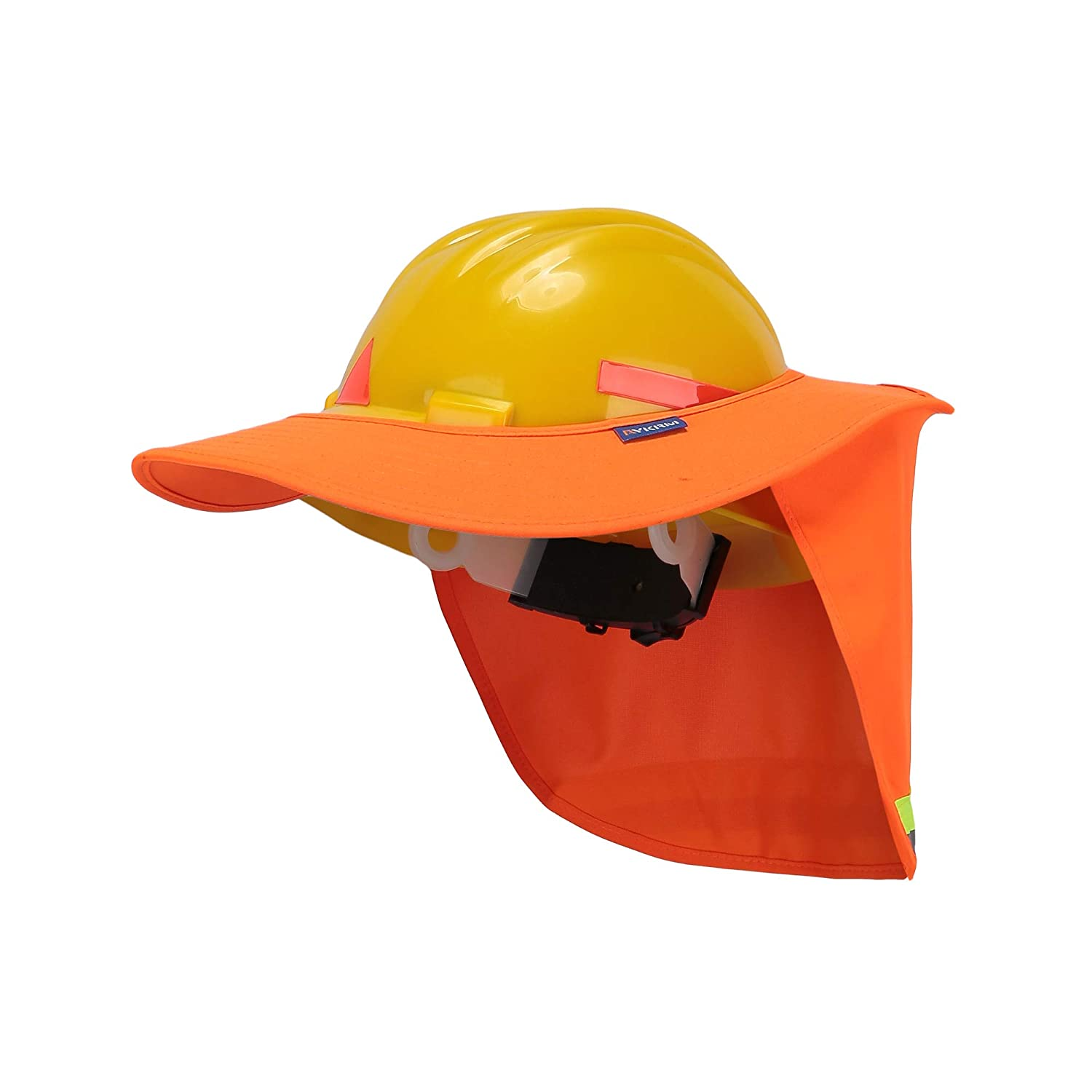 Neck Sun Shield A-safety Polyester Fabric Multifunctional Summer Breathable Hard Hat with Brim Detachable Safety Helmet Sunshade Orange