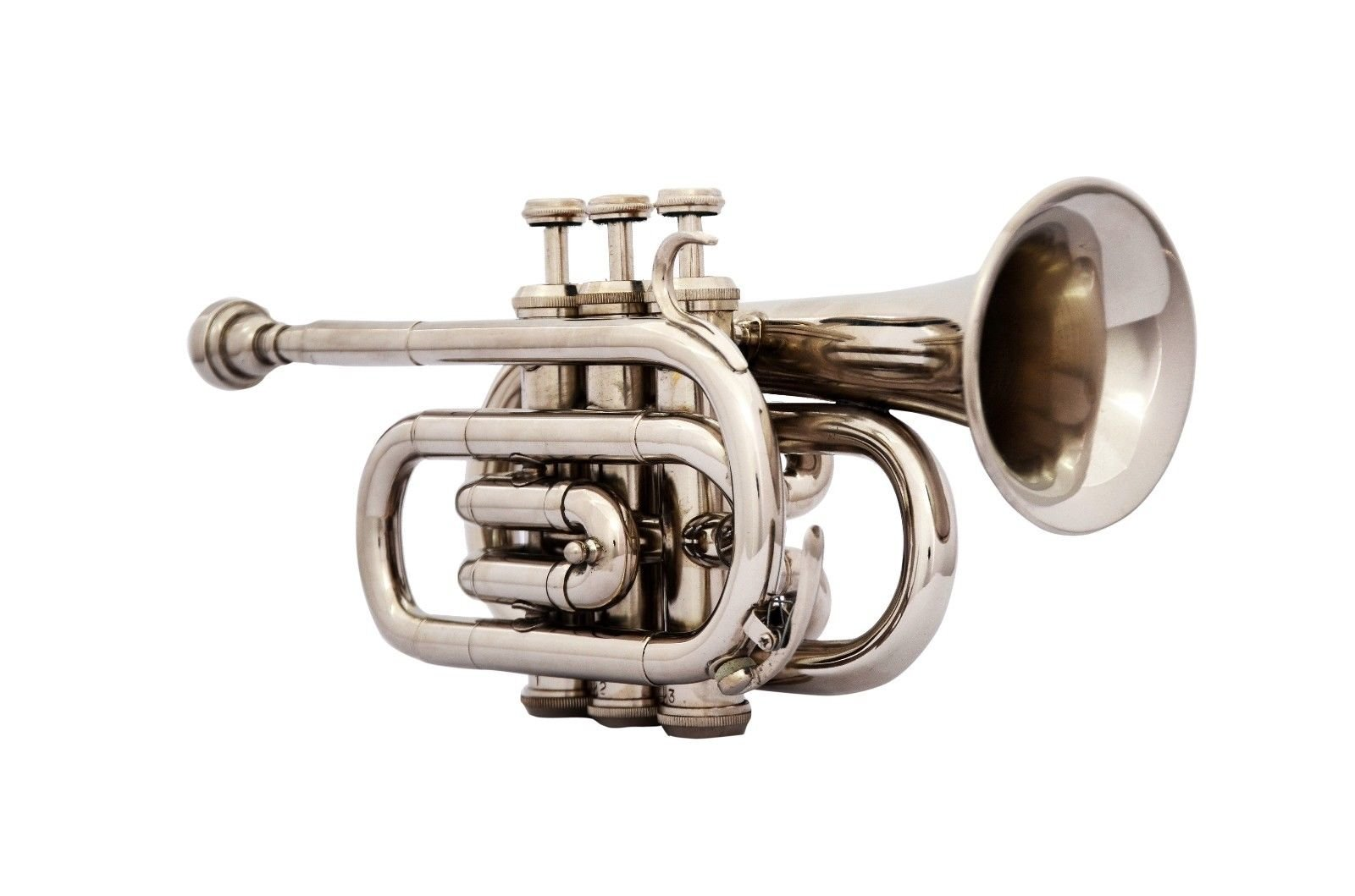 SHREYAS TRUMPET POCKET Bb NICKEL PLATED WITH BAG 7C MOUTH PIECE FAST SHIP shry154 by SHREYAS