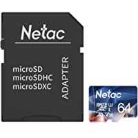 Netac Tarjeta de Memoria de 64GB con Adaptador, Tarjeta Memoria microSDXC(A1, U3, C10, V30, 4K, 667X) UHS-I Velocidad de…
