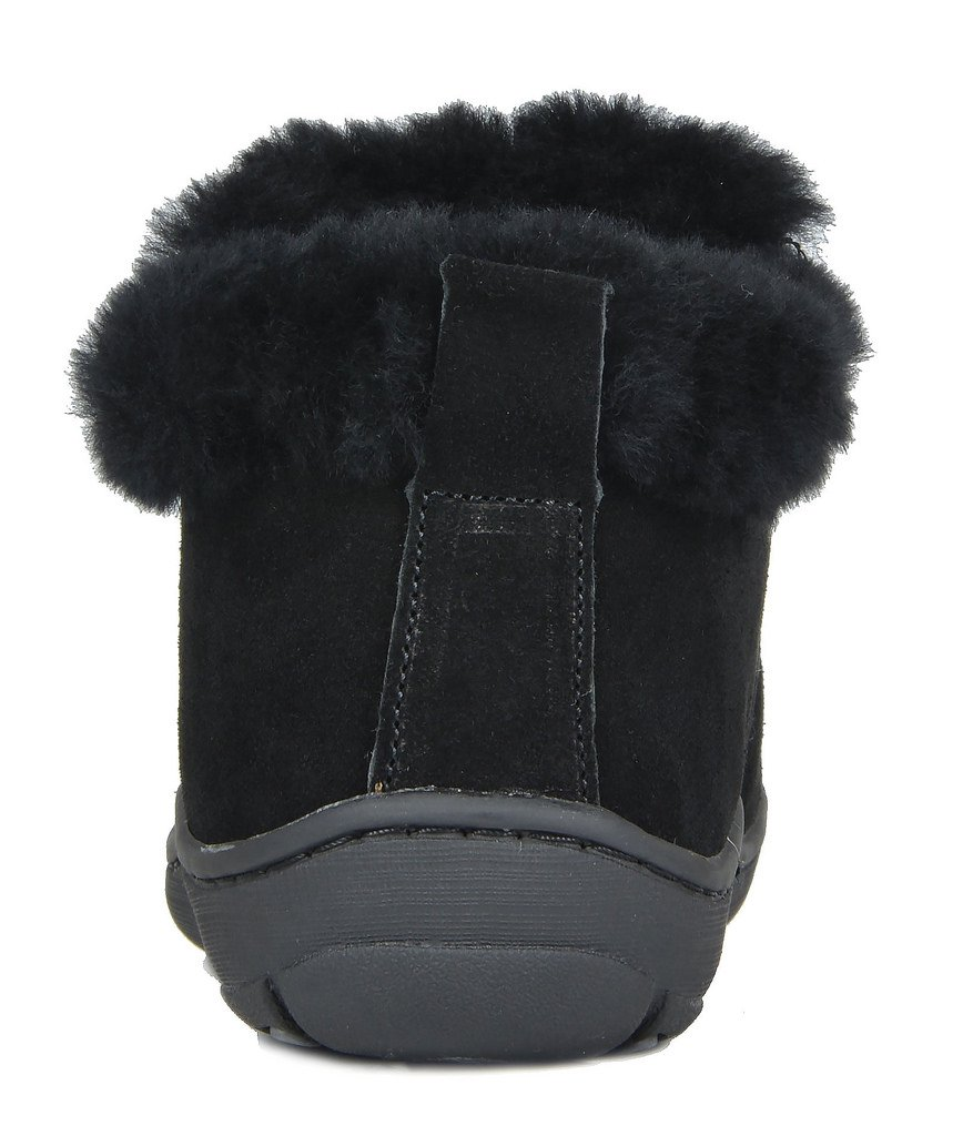 DREAM PAIRS Women's Huggie-01 Black Sheepskin Fur Winter House Slippers - 8.5-9 M US by DREAM PAIRS (Image #4)