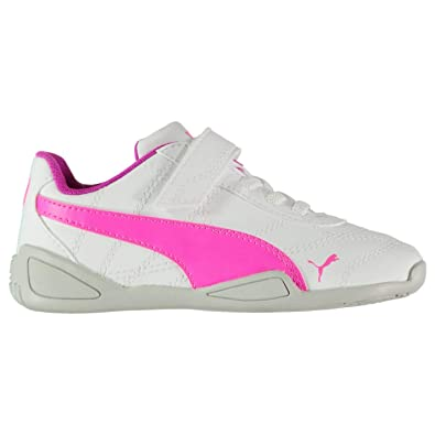 8264d51ef43a Amazon.com  Puma Tune Cat 3 Trainers Infant Girls White Pink Shoes  Footwear  Shoes