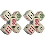 Cyber-Deals (2) Sets of 5 Poker Dice 16mm (Total 10 Dice)