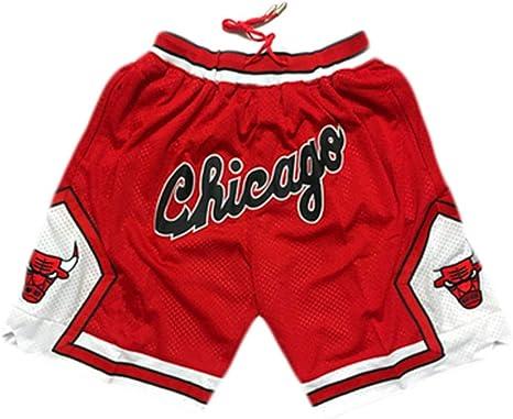 Qixun Pantalones Cortos De Bolsillo Con Cremallera Bordado Retro Retro De Nba Raptors Pantalones Cortos De Baloncesto Bordados Retro Lookool Ro