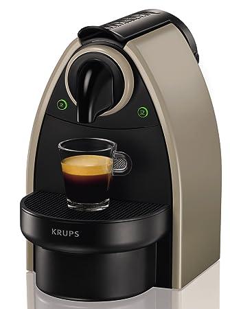 Nespresso XN 2140 Cafetera Essenza autovisión, 1260 W, Acero Inoxidable, Visón