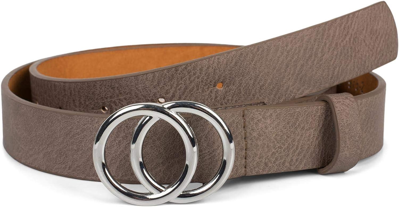 cintura in vita 03010093 cintura per i fianchi styleBREAKER Cintura da donna in tinta unita con fibbia ad anello