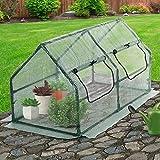 Jago Greenhouse Growbox (Choice of Sizes) Garden Growhouse Anti-UV Lattice Foil Hothouse (0.29 m³ / 120/60/59 cm)