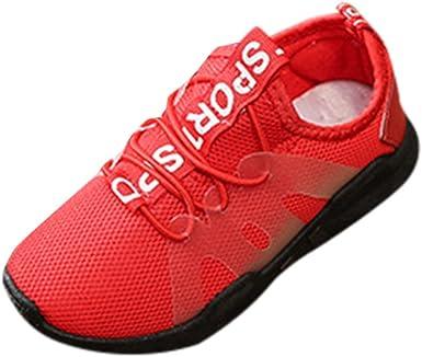 YanHoo Niños Estudiantes Malla Letras impresión Costura Zapatos de ...