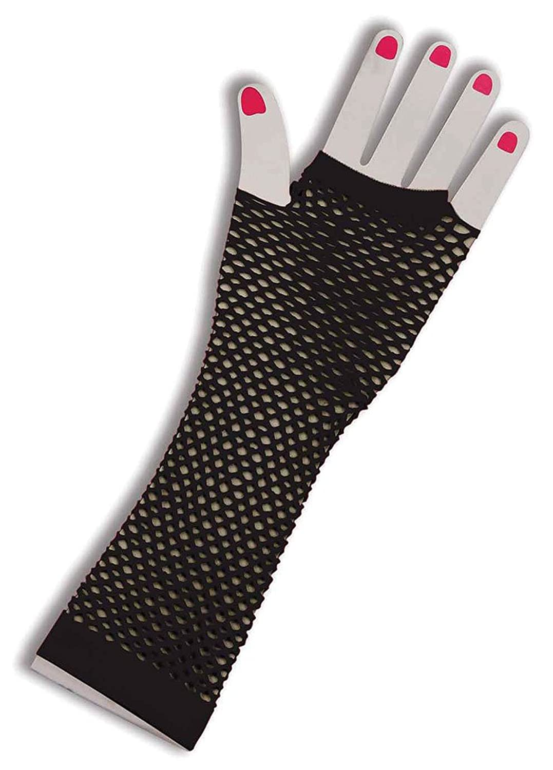 Amazon.com: 80\'s Neon Pink Long Fishnet Adult Gloves: Clothing