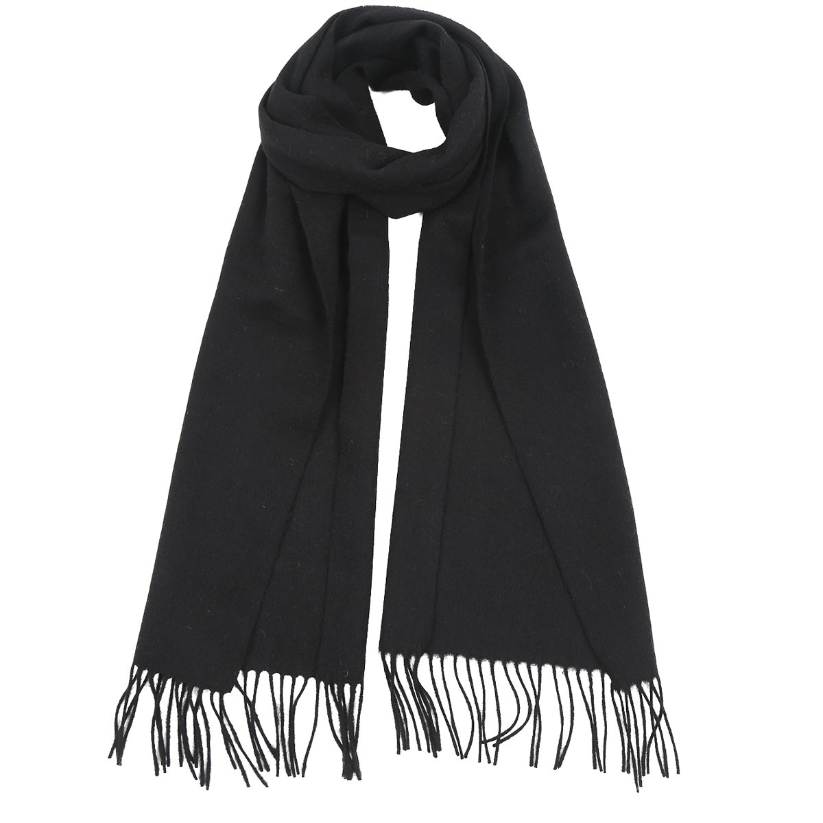 Cashmere Scarf for Women and Men(Black)