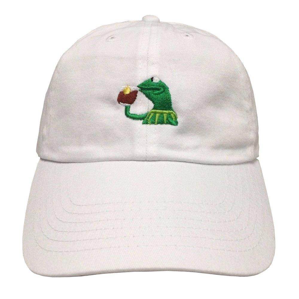 61U WgxhE0L._UL1000_ amazon com kermit tea hat strapback none of my business emoji