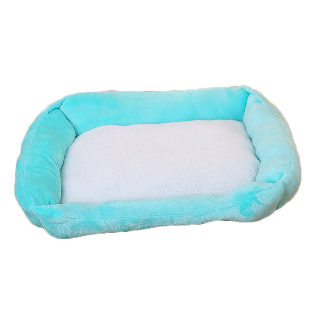 bluee M bluee M Moolo Pet bed plush kennel soft and comfortable breathable waterproof non-slip durable multi-color optional A4 Dog Bed (color   bluee, Size   M)